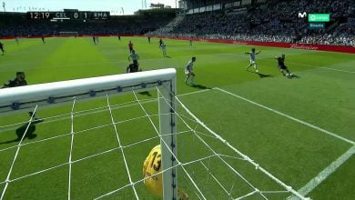 صورة هدف ريال مدريد الأول في مرمى سيلتا فيجو .. كريم بنزيما