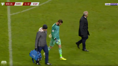 Photo of لحظة اصابة دي خيا في مباراة اسبانيا والسويد