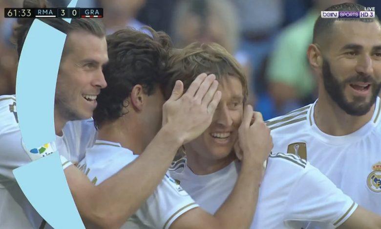 صورة أهداف مباراة ريال مدريد وغرناطة (4-2) .. الدوري الإسباني