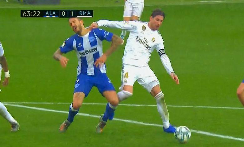 صورة هدف تعادل آلافيس امام ريال مدريد (1-1) الدوري الاسباني
