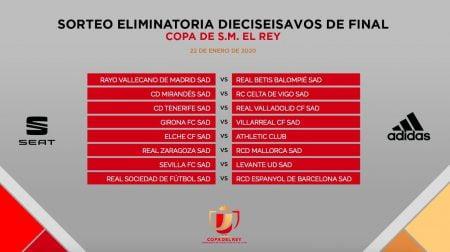نتائج قرعة كأس ملك إسبانيا