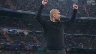 صورة هدف مانشستر سيتي الاول في مرمى ريال مدريد 1-1 دوري ابطال اوروبا