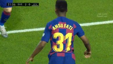صورة هدف برشلونة الثاني في مرمى ليفانتي (2-0) الدوري الاسباني