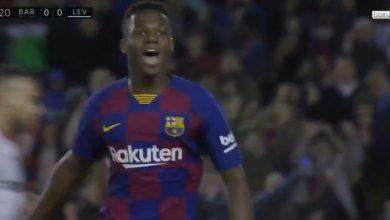 صورة اهداف مباراة برشلونة وليفانتي (2-1) الدوري الاسباني