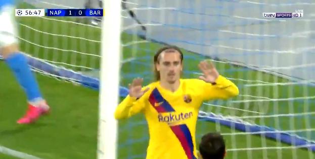 صورة اهداف مباراة برشلونة ونابولي (1-1) دوري ابطال اوروبا