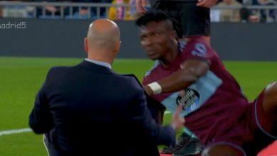 Photo of لحظة سقوط زيدان في مباراة ريال مدريد وسيلتا فيغو