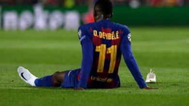 Photo of رسمياً   ديمبيلي يغيب عن برشلونة لمدة 6 شهور