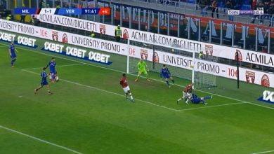 صورة اهداف مباراة ميلان وفيرونا (1-1) الدوري الايطالي