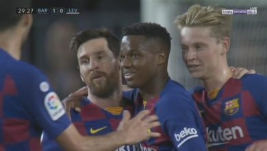 صورة ملخص مباراة برشلونة وليفانتي في الدوري الاسباني