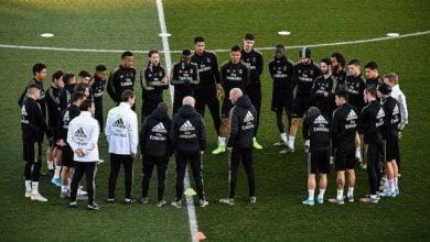 التدريبات الجماعية لريال مدريد