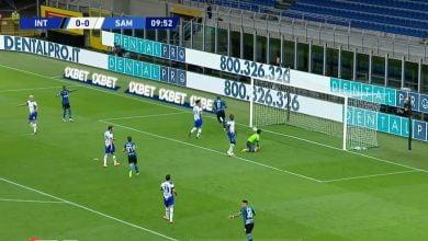 صورة هدف لوكاكو في مرمى سامبدوريا 1-0 الدوري الايطالي