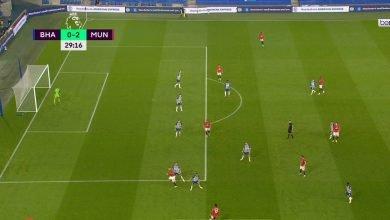 Photo of هدف مانشستر يونايتد الثاني في مرمى برايتون 2-0 الدوري الانجليزي
