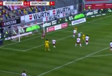 صورة هدف هالاند القاتل في مرمى فورتونا دوسلدورف 1-0 الدوري الالماني