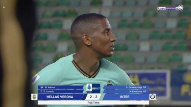 صورة اهداف مباراة انتر ميلان وفيرونا 2-2 الدوري الايطالي