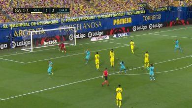 صورة هدف برشلونة الرابع في مرمى فياريال 4-1 الدوري الاسباني
