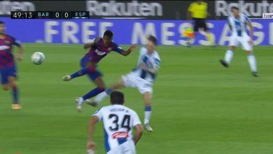 Photo of لحظة طرد فاتي في مباراة برشلونة واسبانيول