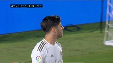 صورة هدف ريال مدريد الثاني في مرمى الافيس 2-0 الدوري الاسباني