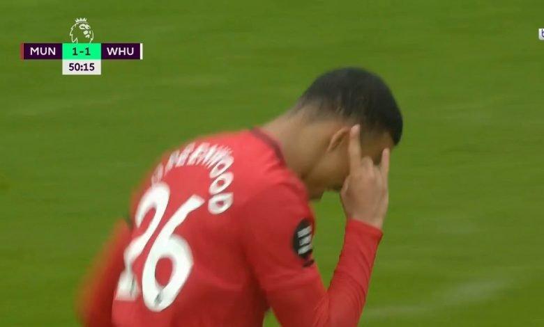 Photo of اهداف مباراة مانشستر يونايتد ووست هام 1-1 الدوري الانجليزي