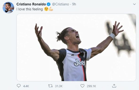 تغريدة كريستيانو رونالدو