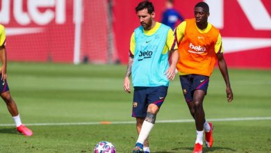 Photo of ميسي يعود لتدريبات برشلونة بشكل طبيعي إستعداداً لمواجهة البايرن