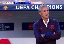 صورة هدف بايرن ميونيخ الاول في مرمى برشلونة 1-0 دوري ابطال اوروبا