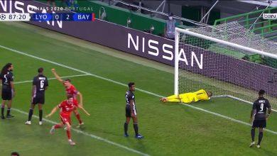 صورة هدف بايرن ميونيخ الثالث في مرمى ليون 3-0 دوري ابطال اوروبا