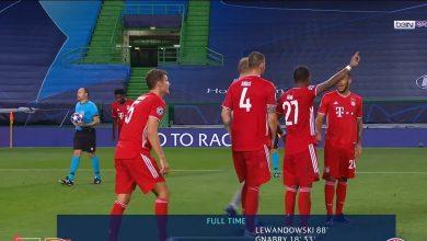 صورة ملخص مباراة بايرن ميونيخ وليون في دوري ابطال اوروبا