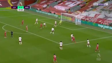صورة هدف ليفربول الثالث في مرمى ارسنال 3-1 الدوري الانجليزي