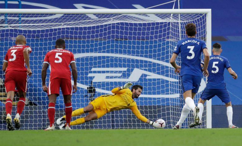 صورة ملخص مباراة ليفربول وتشيلسي في الدوري الانجليزي