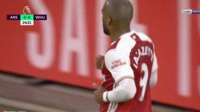 صورة هدف لاكازيت في مرمى وست هام 1-0 الدوري الانجليزي
