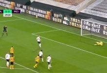 صورة هدف مانشستر سيتي الاول في مرمى وولفرهامبتون 1-0 الدوري الانجليزي