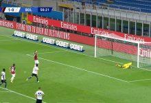 صورة هدف ابراهيموفيتش الثاني في مرمى بولونيا 2-0 الدوري الايطالي