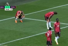 صورة ملخص مباراة مانشستر يونايتد وبرايتون في الدوري الانجليزي