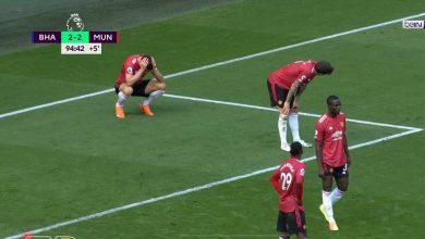 ملخص مباراة مانشستر يونايتد وبرايتون في الدوري الانجليزي