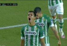 صورة هدف عيسى ماندي في مرمى ريال مدريد 1-1 الدوري الاسباني