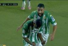 صورة هدف ريال بيتيس الثاني في مرمى ريال مدريد 2-1 الدوري الاسباني