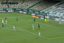 صورة هدف ريال مدريد الثالث في مرمى ريال بيتيس 3-2 الدوري الاسباني