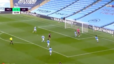 صورة هدف جيمي فاردي الرائع في مرمى مانشستر سيتي 3-1 الدوري الانجليزي