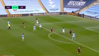 صورة هدف ليستر سيتي الرابع في مرمى مانشستر سيتي 4-1 الدوري الانجليزي