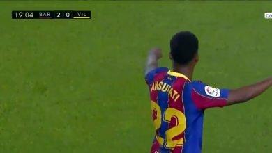 هدف برشلونة الثاني في مرمى فياريال 2-0 تعليق حفيظ دراجي