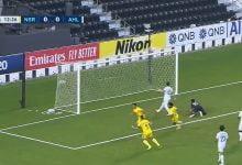 صورة هدف النصر الاول في مرمى الاهلي 1-0 تعليق رؤوف خليف