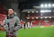 صورة روبرتسون يقلل من شأن تسببه في هدف أرسنال ضد فريقه ليفربول
