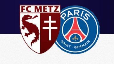 صورة موعد مباراة باريس سان جيرمان وميتز في الدوري الفرنسي والقنوات الناقلة