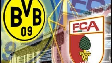صورة موعد مباراة أوجسبورج وبوروسيا دورتموند في الدوري الألماني والقنوات الناقلة