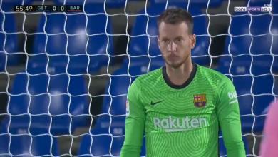 هدف خيتافي الاول في مرمى برشلونة 1-0 الدوري الاسباني