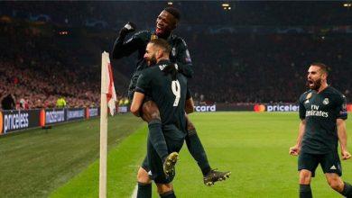صورة رد فعل فينيسيوس بعد اعتذار بنزيما له في تدريبات ريال مدريد
