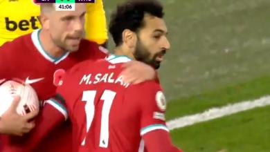 صورة هدف محمد صلاح في مرمى وست هام 1-1 الدوري الانجليزي