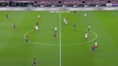 ملخص مباراة برشلونة واشبيلية في الدوري الاسباني