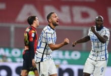 صورة اهداف مباراة انتر ميلان وجنوى 2-0 الدوري الايطالي