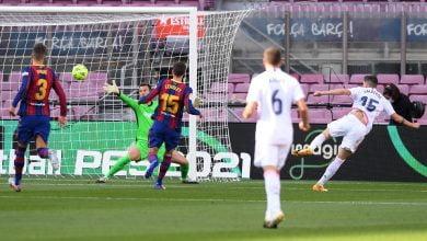 هدف ريال مدريد الاول في مرمى برشلونة 1-0 تعليق حفيظ دراجي